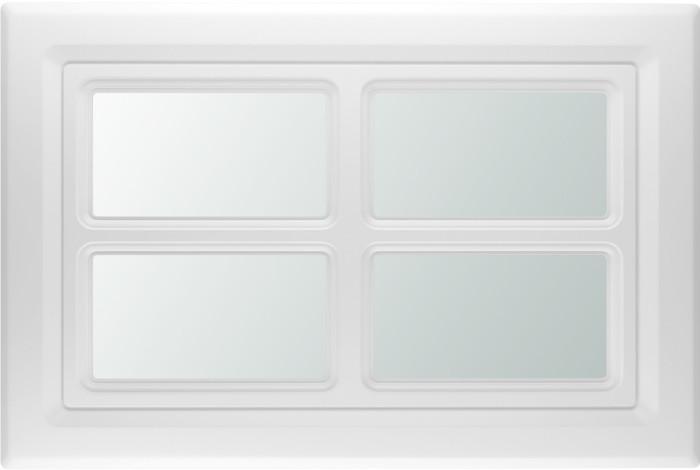 Rektangulært vindu med smal sprosse